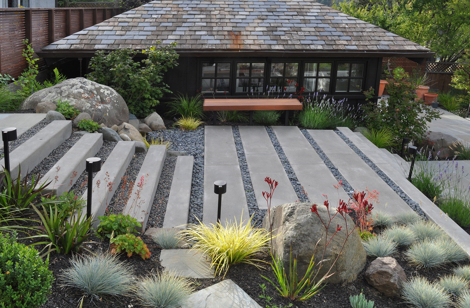 Mill valley huetll landscape architecture for Garden design mill valley